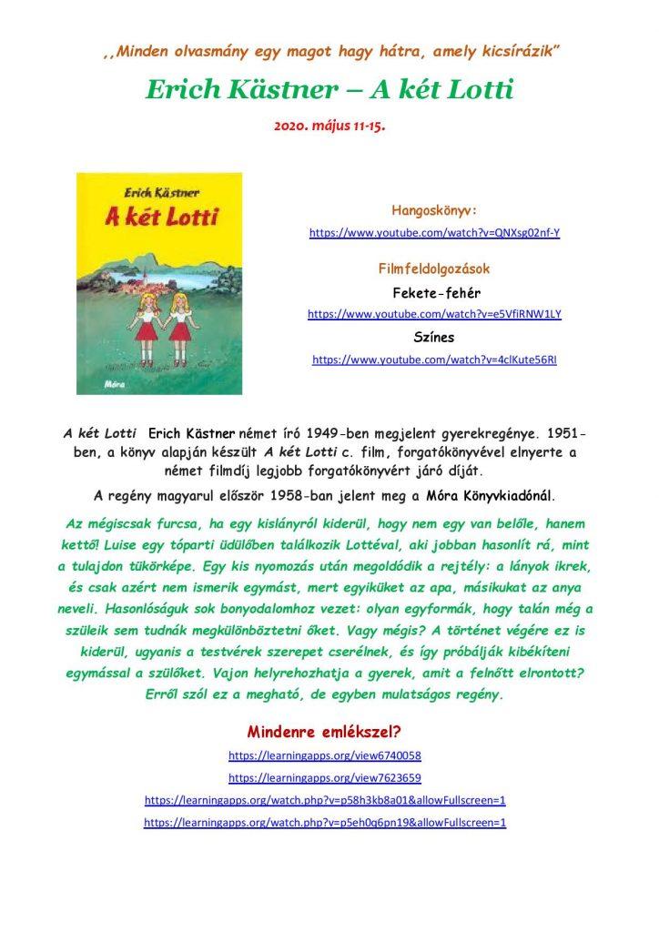 Erich Kastner A két Lotti page 001