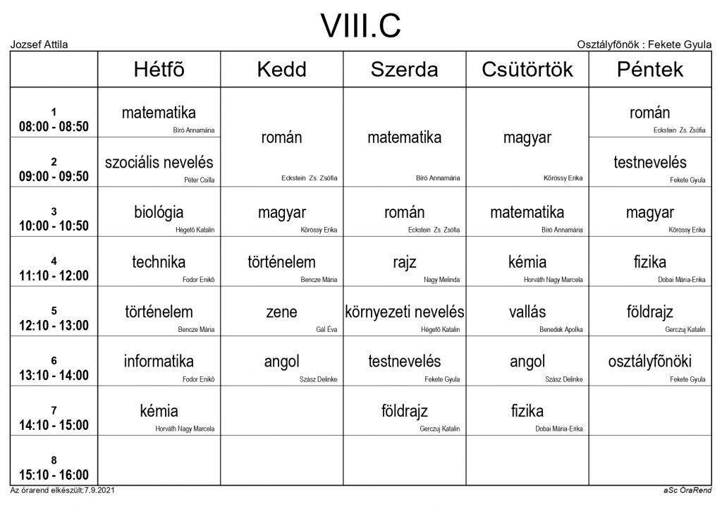VIII. C